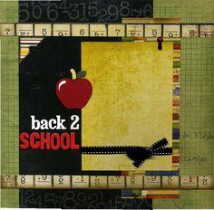 Back 2 School  12x12 Premade Scrapbook by SusansScrapbookShack, $16.95
