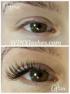 Perfect cat eye lash extensions