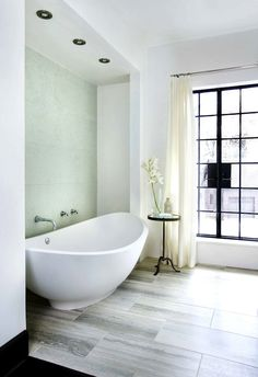 Frosted Glass Doors - Contemporary - bathroom - Andrew Skurman Architects