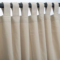Antique Beige Sunbrella Outdoor Curtains Tab Top