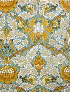 William Morris illustration - Would love this pattern for a pillow or comforter.
