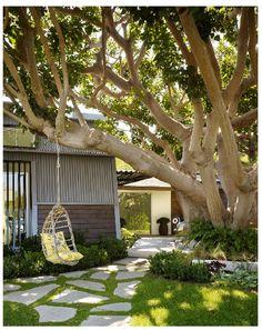 modern tree swing - love that tree