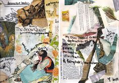 collage mind map and brainstorming of ideas- try not to make it tacky... make it authentic like a professional artist's or designer's