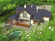 Village House Design, Village Houses, Contemporary House Plans, Modern House Design, Home Building Design, Building A House, Outside House Paint, Popsicle Stick Houses, Mansions Homes