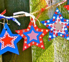 Patriotic Star Banner Craft Kit by SmartBottomKids on Etsy, $18.00