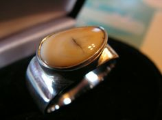 OMG, this is the exact ring Ricky and I picked for me to use his elk ivory in!  Soooooooo excited to have it made!