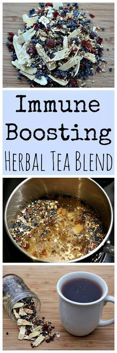 Make this immune boosting herbal tea blend to always have on hand when you feel a sickness coming on!
