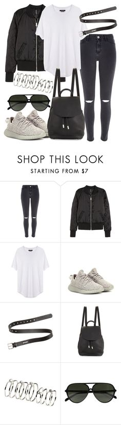 """Untitled #48"" by lovelyxjennifer ❤ liked on Polyvore featuring River Island, H&M, Isabel Marant, adidas Originals, Acne Studios, rag & bone and CÉLINE"