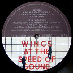 Vinylmania: Paul McCartney Venus And Mars, Paul Mccartney, Wings, Let It Be, Writing, My Love, My Boo, Feathers, Ali