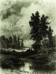 The stream - Ivan Shishkin