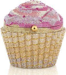 Judith Leiber Cupcake crystal-embellished clutch.