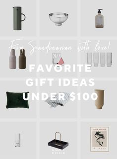 Favorite Gift Ideas From Scandinavia Under $100 - NordicDesign Nordic Design, Scandinavian Design, The Swede, Stainless Steel Bowl, Cream Blush, Hand Lotion, Velvet Cushions, Best Gifts, The 100