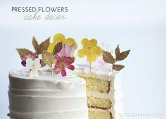 Pressed Flower Cake Decor