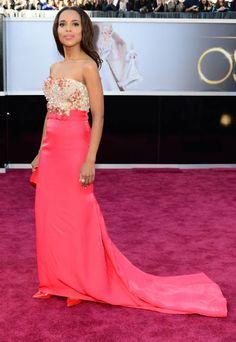 2013 Academy Awards red carpet - Kerry Washington