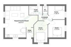 kis családi ház alaprajzok - Google-keresés Weekend House, Home Projects, House Plans, Villa, Floor Plans, Cottage, How To Plan, Inspiration, Buildings