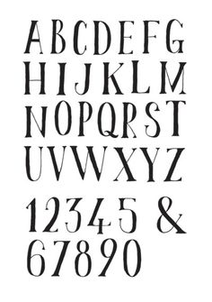 Hand drawn font by wanderingbert on flickr.com. Liking the weight of this font.