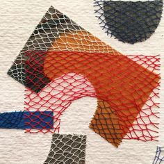 Layered Stitching over Fabric on Paper by Karin Lundström   Flickr