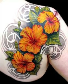 Flower tattoos are very common for girls. We see the popular use of hibiscus flower tattoos on many girls. The special hibiscus tattoo desi...