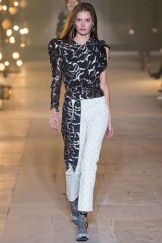 Isabel Marant Fall 2017 Ready-to-Wear Collection Photos - Vogue (Chass Wrap Asymmetrical Blouse)