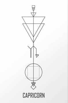 tattoo # Capricorn - tattoo The Effective Pictures We Offer You About tattoo fo - Capricorn Constellation Tattoo, Capricorn Art, Capricorn Tattoo, Zodiac Sign Tattoos, Tattoo Signs, Capricorn Symbol, Tattoos Geometric, Geometric Arrow, Geometric Tattoo Design