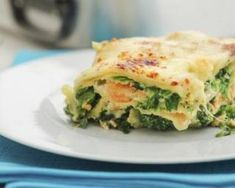 A take on a classic, this salmon, spinach and tomato lasagne is a perfect post-workout meal full of protein! Try it on Inside Track here. Pasta Recipes, Diet Recipes, Cooking Recipes, Healthy Recipes, Comfort Foods, Post Workout Food, Italian Recipes, Love Food, Sauteed Spinach