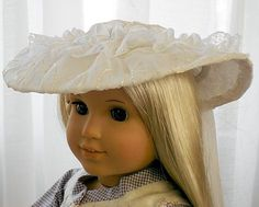 American Girl Doll Clothes - Doll Hat - Spring Special Occasion Hat - Flower Girl or First Communion. $22.00, via Etsy.