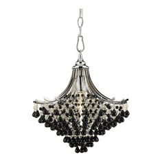 Spellbound 1 Light Mini Chandelier in Black
