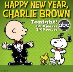 Happy New Year Charlie Brown Linus Van Pelt, Lucy Van Pelt, Peanuts Images, Snoopy New Year, Sally Brown, Abc 7, Snoopy Christmas, Disney Shows, Charlie Brown And Snoopy