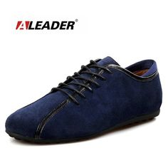 Aleader New 2017 Men Casual Shoes Suede Leather Shoes Warm Comfortable Flats With Fur Men Driving Loafers sapato masculino