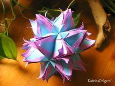 Galatea ❀ ❀ Origami kusudama - YouTube
