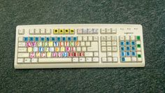 Word work keyboard...pair with high frequency words or spelling words. #daily5  Thanks to pinterest for the inspiration!