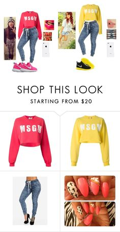 """""""Shania & Tamia . MSGM . Power Couple ."""" by kekethebaddest ❤ liked on Polyvore featuring MSGM and NIKE"""
