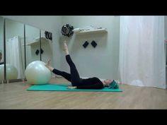 Pilates avec Gros Ballon (Swissball) - Cours gratuit et complet - YouTube
