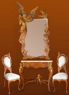 Art Nouveau dressing set