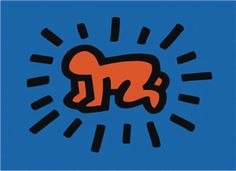 """""""%22The Radiant Baby"""" por  Keith Haring"""
