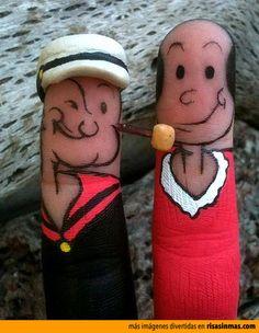 Popeye y Olivia.