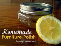 Homemade natural furniture polish - *this works great! I used 1/4 cup olive oil, 1 T vinegar & 1 T lemon juice. Might make the full batch next time and store it in the fridge in a bottle.