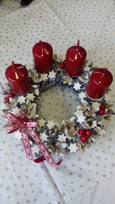 Srdíčkova mašle Advent, Christmas Wreaths, Holiday Decor, Advent Wreaths
