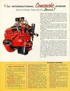 IH SCOUT Engine Ad