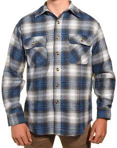 88a137ce5a20a Pro Elite Mens Heavy Duty Flannel Shirt - Blue Highland - C212L6YQBP3
