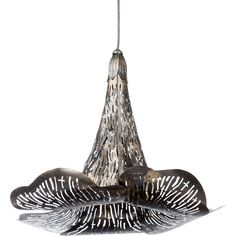 Mixing organic influences with modern verve, this distinctive flower-shaped pendant makes a statement over an arm chair or looks bold in a trio above a sleek...