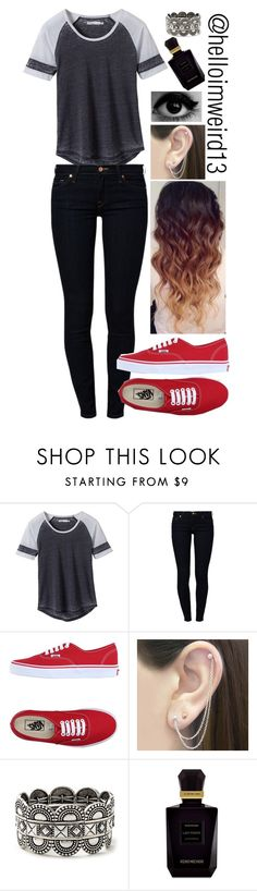 """pierce the veil ~ circles"" by helloimweird13 on Polyvore featuring prAna, 7 For All Mankind, Vans, Otis Jaxon, Forever 21 and Keiko Mecheri"