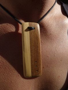 Chic and simple necklace. Original wooden by Melcreationsbois, €20.00