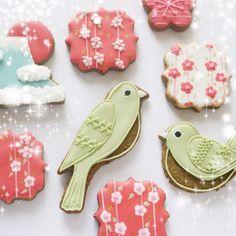 """234 Likes, 14 Comments - magu (@magucookies) on Instagram: """"C'est bientôt la saison de fleur de prune et les petits oiseaux vert au Japon 梅と鶯  """""""