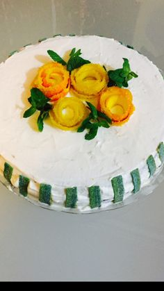 Lemon mint cake