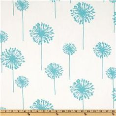 Premier Prints Twill Dandelion Girly Blue - Discount Designer Fabric - Fabric.com For upstairs bathroom and possibly downstairs, too