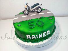 Motorbike Cake - Birthday cake for a big motorcycle fan.