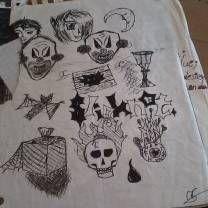 Halloween doodles for practice