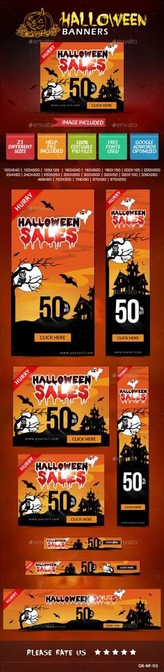 Halloween Web Banner Design Set Template PSD | Buy and Download: http://graphicriver.net/item/halloween-web-banner-design-set/9010754?WT.ac=category_thumb&WT.z_author=doto&ref=ksioks