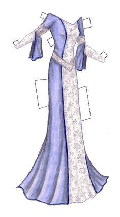 Liana's Paper Doll Blog  » Aelinora the elvish princess from the Paperdoll Blog, Christmas 2004